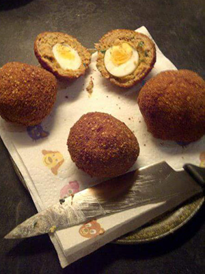 mr vikkis scotch eggs with chilli jam