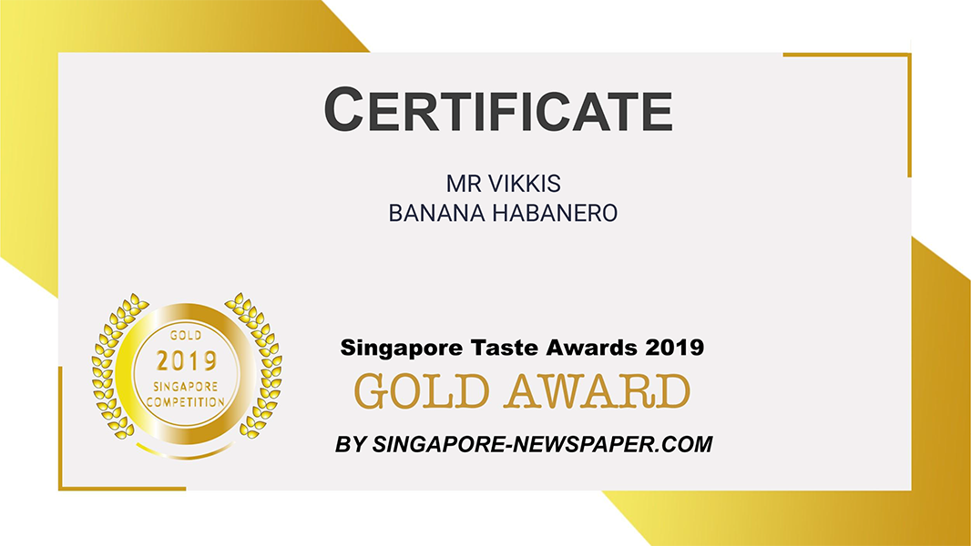 singapore taste awards 2019 certificate