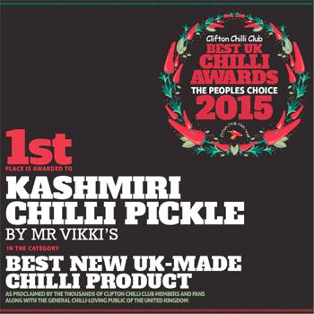 kashmiri chilli pickle best UK chilli awards