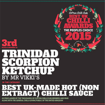 trinidad scorpion ketchup best UK chilli awards